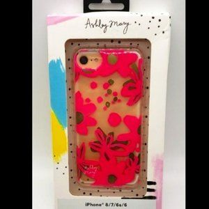 ASHLEY MARY IPHONE  8/7/6 CASE COVER PINK CLEAR